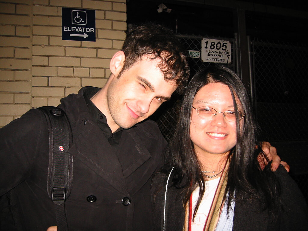 Robert Been of BRMC and me at the Fillmore 3/16/06 1