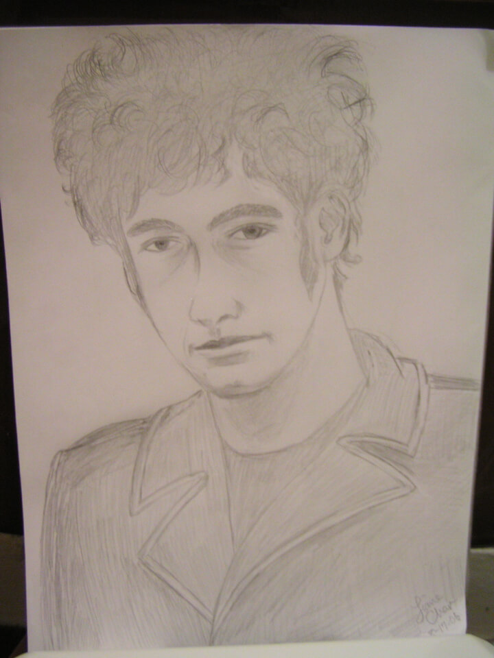 My drawing of Robert Levon Been of BRMC 20