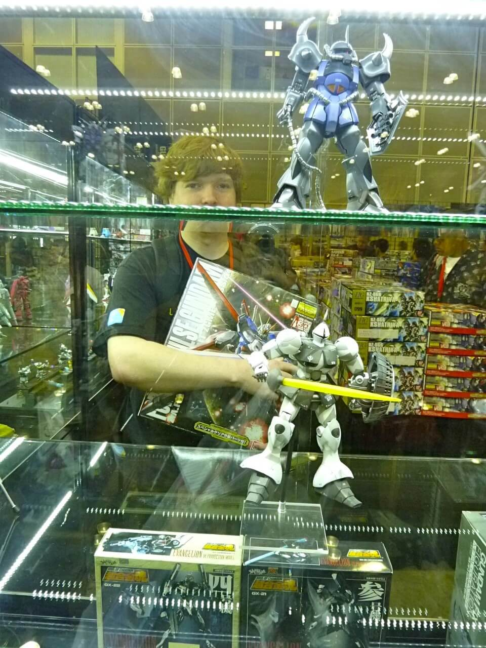 Andrew stuck in Gundam jail