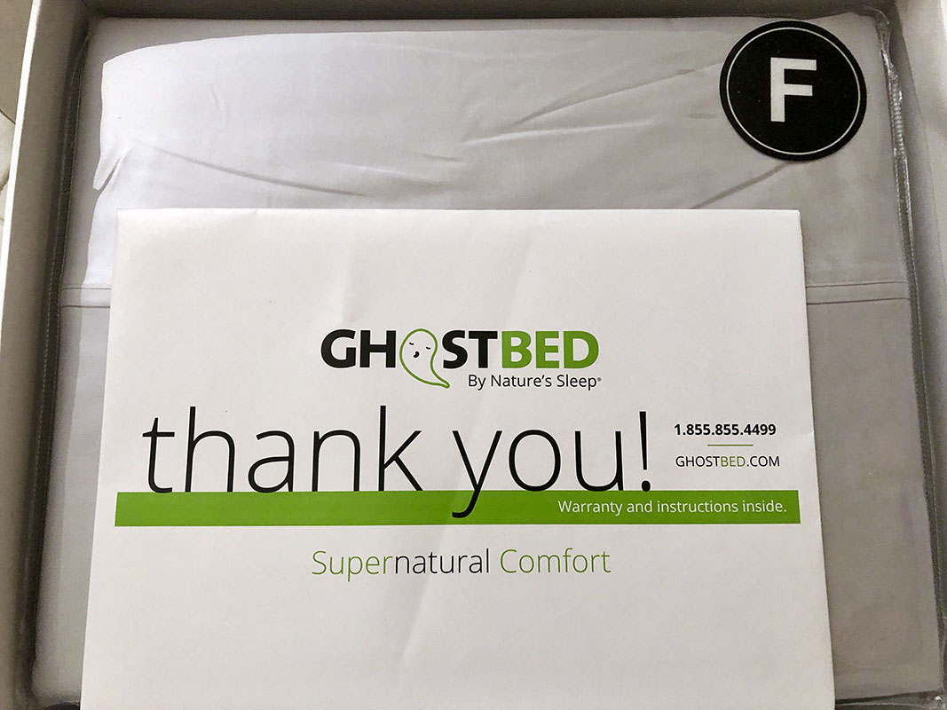 REVIEW: GhostBed Luxury Sheets - sleep well tonight 1